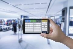 Software op mobiel Stock Fotografie
