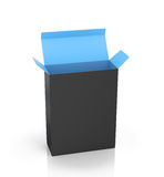 Software Package Box Opened Black Inside Blue Stock Photography