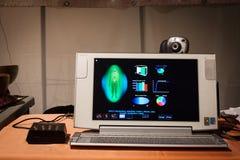 Software para mostrar la imagen aural en el festival de Olis en Milán, Italia fotos de archivo libres de regalías
