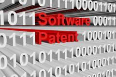 Software patent. In the form of binary code, 3D illustration Stock Photography