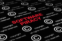 Software piracy Royalty Free Stock Photo