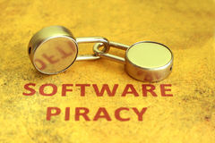 Software piracy Royalty Free Stock Photos