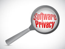 Software privacy magnify illustration design Royalty Free Stock Image