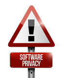 Software privacy sign illustration design Stock Photo