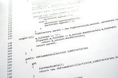 Software-Programmcode Stockfoto