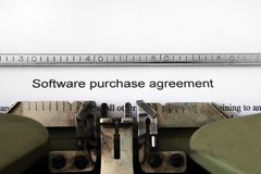 Software purchase agreement Stock Photos