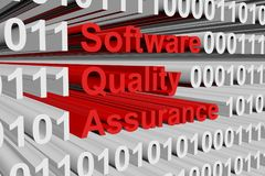 Software quality assurance. In the form of binary code, 3D illustration Royalty Free Stock Photography