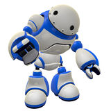 Software Security Bot Concept Pointing at Viewer vector illustration