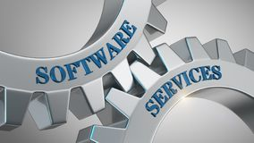 Software services concept royalty free stock photography