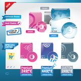 Software – set of vector elements Stock Photos