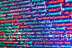 Software source code. Abstract screen of software stock photos