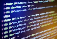Software source code. Programming code on computer screen. Royalty Free Stock Photography