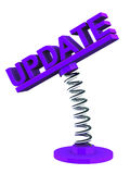 Software update. Update text on spring bound label, concept of software and news updates stock illustration