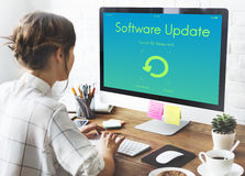Software Update Electronic Device Display Concept Stock Photo