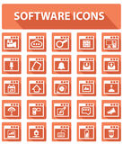 Software and User interface buttons,Orange version.  royalty free illustration