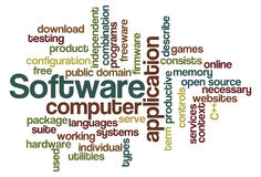 Software - Word Cloud. Word Cloud Illustration of Software Royalty Free Stock Photography