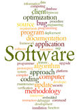Software, word cloud concept 7 Royalty Free Stock Photos