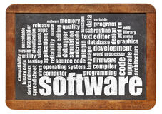 Software word cloud Royalty Free Stock Image