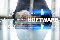Softwareentwicklung Daten-Digital-Programm-Systemtechnik-Konzept lizenzfreie stockfotos