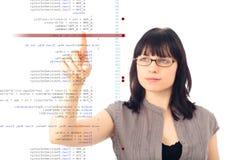 Softwareingenieur Debugging Code Stock Foto's