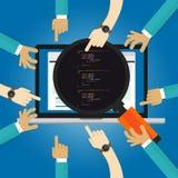 Softwareoverzicht de testende codage en programmerings van de de goedkeuringstest UAT van de prestatiesgebruiker hand die van de  royalty-vrije illustratie