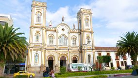Sogamoso Colombia, Saint Martin cathedral. Sogamoso, Colombia  May 23  Saint Martin Church in Sogamoso village. Located in its historic center is appreciated for stock video