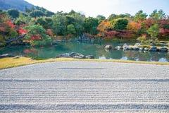 Sogenchi pond garden in autumn season at Tenryuji temple. Kyoto, Japan Stock Photography