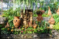 Soggiorno adorabile, giardino floreale, Tailandia Fotografia Stock