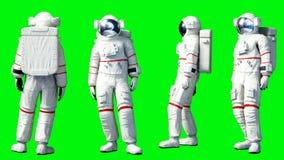 Soggiorno dell'astronauta in ozio Schermo verde Animazione realistica 4K royalty illustrazione gratis