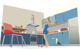 Nella cucina Fotografie Stock
