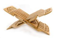 Soggiorno intagliato di legno per il koran Fotografia Stock