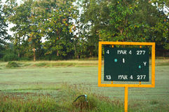 Soggy Scoreboard Golf. In Thailand Stock Photos