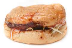 Soggy Unhealthy Homemade Burger Stock Images