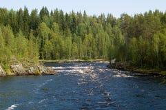 Soglia sul fiume Fotografia Stock