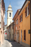Sogliano al Rubicone - Street and belfry Stock Photography