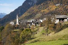 Soglio in Bregaglia region - Switzerland Royalty Free Stock Image