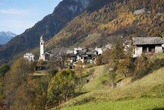 Soglio in Bregaglia region - Switzerland Royalty Free Stock Image