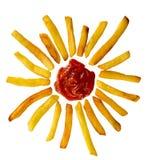Sogliola di raggiro del fritte di Patatine Immagini Stock Libere da Diritti