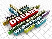 Sogna il concetto illustrazione di stock