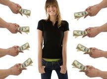Sognando dei soldi Fotografie Stock