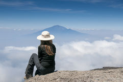 Sognando su Kilimanjaro Fotografia Stock