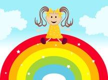 Sognando su un Rainbow Fotografia Stock Libera da Diritti