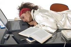 Sognando sul lavoro Immagini Stock