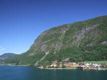 Sogndal houses royalty free stock images