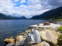 Sogne fjord Fotografia Stock