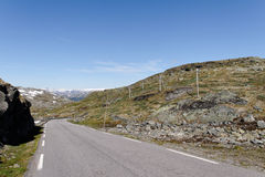 Sognefjell` road. Royalty Free Stock Images
