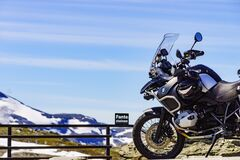 BMW motorcycle in mountains on 7 July 2018, Norway