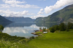 sognefjord пейзажа Норвегии стоковое фото rf