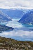 sognefjord obraz stock