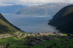 Sognefjord Foto de Stock Royalty Free
